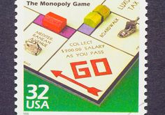 Favorite Monopoly Board Game U. Postage Stamp -=- Great Memories of Days Gone… Monopoly Board, Monopoly Game, Book Report Projects, Commemorative Stamps, Postage Rates, Vintage Board Games, Going Postal, Love Stamps, Vintage Stamps