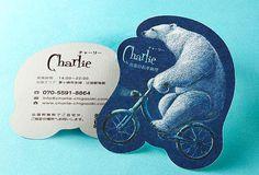 チャーリー様 ショップカード|事例紹介 | 型抜き印刷ドットコム|型抜き印刷の専門店