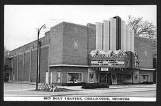 Ben Bolt Theatre...in Chillicothe MO. I remember going to the Ben Bolt as a child and it is where I first saw Star Wars...wonderful memories.