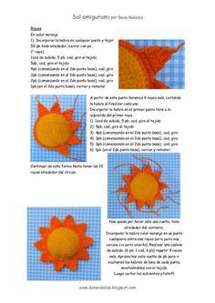Amigurumi Charts Recipes Dolls How To Knit Loom Free Pattern Keychains Sun Baby Hat Knitting Patterns Free, Crochet Bunny Pattern, Crochet Mandala Pattern, Afghan Crochet Patterns, Crochet Chart, Amigurumi Patterns, Diy Crochet, Crochet Dolls, Crochet Keychain