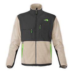 North Face Denali Mens AMYN-CLK Oatmeal Grey Polartec Fleece Jacket Size M