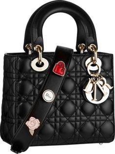 Dior Black Small Lady Dior Bag