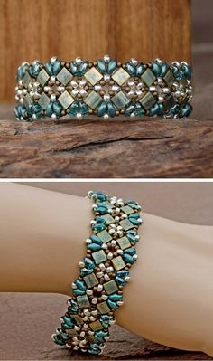 Gorgeous! Lindy Lee Treasures - Blue, Metallic Patina, Bronze and Silver Handwoven Cuff Bracelet. Million Dollar Look, One of a Kind!