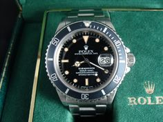 FS: 1986 Vintage Rolex Submariner Transitional Reference 168000 Great Patina  Asking $4150