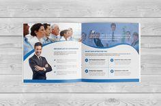Square Bi Fold Brochure by Cristal Pioneer on @creativemarket