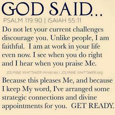 Comforting to know that God sees EVERYTHING! No one can hide behind a false veneer. He has your back!! Patience...HIS WILL BE DONE ON HIS OWN TIME... And it will be PERFECT! Stepping stones!FAITH