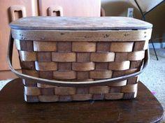 Basketville of Vermont small picnic basket by MadModWorldVintage