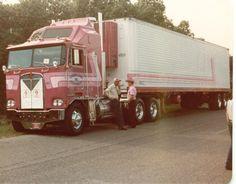 "Vintage early 1980's ""Center State Transport, Inc."" Kenworth K100 Aerodyne COE."