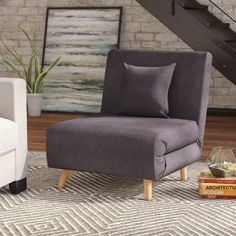 Bring in playful character and chic style into your home with this Wolfe Upholstered Convertible Chair. With a comfort-oriented design and bright upholstery, this chair is multi-functional and will…More Furniture Chair, Family Room Furniture Layout, Homedecor Living Room, Chair, Furniture, Living Decor, Home Decor, Chair Fabric, Living Room Furniture