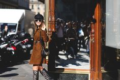 "The Best ""What IS She Wearing?"" Looks From Paris #refinery29  http://www.refinery29.com/2015/10/95202/paris-fashion-week-spring-2016-street-style-pictures#slide-43  Just smile and wave...."