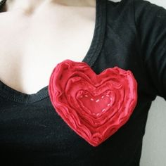 Make a cute heart brooch for Valentine's Day with this step by step tutorial