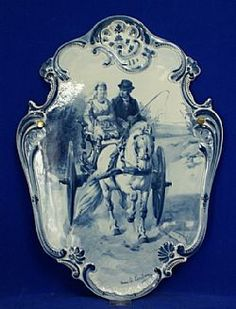 """Delft...I Have an 18"""" blue delft charger in this pattern...bought it in early 60s....♥ It...dkw"""