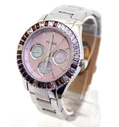 MARKED DOWN  99 Fossil watch es 2959 RARE cube shaped crystals on bezel   fossilwatch   9c4b38682e
