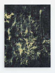 "Anja Schwörer [Germany] (b 1971) ~ ""BP_1411"", 2011. Bleached denim (100 x 73 cm). | b | #art #painting #abstract #expressionism"