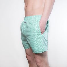 Green Checkered boxershort with Pockets