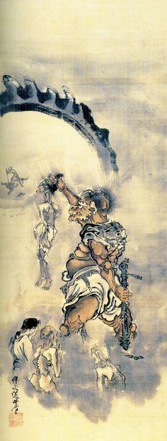 Enma, King of Hell by Kawanabe Kyosai