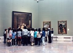 Velázquez's sublime masterpiece Las Meninas always attracts a crowd at the Prado in Madrid.