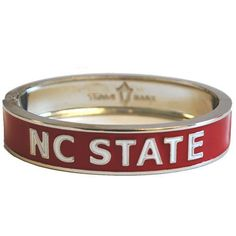 NC State Wolfpack Silver Bangle