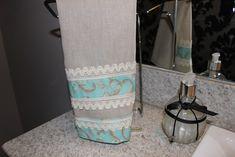 Toalha de Lavabo de linho com barrado