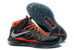 1e363629641f Nike Lebron James X (10) BHM Anthracite Pure Platinum Sport Grey Shoes Nike  Lebron
