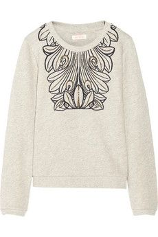 Sass & bide Changing Times embellished cotton French terry sweatshirt | NET-A-PORTER