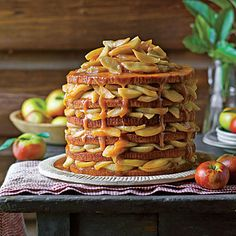 Apple Stack Cake  | Use six disposable 8-inch aluminum cake pans to create the layers of this stunning cake. Prepare the filling up to three days before assembling the cake.