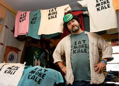 """The Vermont man who went up against Chik-fil-A to defend his right to use the phrase """"Eat More Kale"""" has won his legal battle to use the phrase."""
