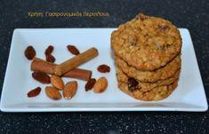 Νηστίσιμα μπισκότα βρώμης - cretangastronomy.gr Muffin, Cookies, Breakfast, Desserts, Food, Drinks, Banana, Crack Crackers, Morning Coffee