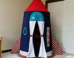 Christmas in July Rocketship Tent Spaceship by suitedreamcreators
