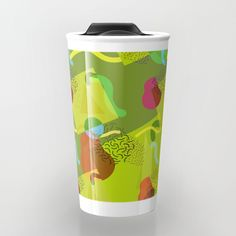 Neo Memphis Fun - Green Travel Mug by squibble https://society6.com/product/neo-memphis-fun-green_travel-mug