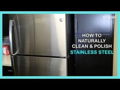 This natural solution will have your stainless steel kitchen appliances clean and polished in no time. Best Stainless Steel Cleaner, Stainless Steel Kitchen Appliances, Stainless Steel Polish, House Cleaning Tips, Diy Cleaning Products, Cleaning Solutions, Cleaning Hacks, Chemical Free Cleaning, Cleaning Appliances