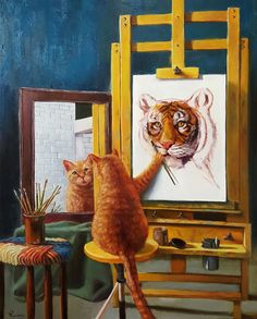 """Painting by Lucia Heffernan 30x24""""Norman Catwell"""""""
