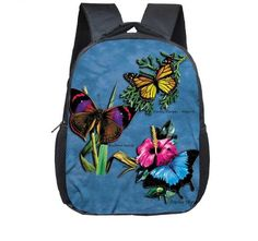 db830c1f96 12inch infants child printing Bag Cute animals Backpack for Toddler Boys    Girl butterfly kindergarten nursery