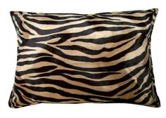 Mocha Zebra Wild Instinct Pillow