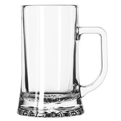 The Libbey 2329SA450 17.5 Ounce Maxim Mug is heavy duty, with a starburst on the outer bottom. The handle is flat on top making it easier for customers have a good grip