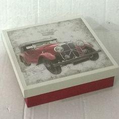 Caixa 15x15. Tinta pva cintilante Corfix areia e vermelho country. Papel scrap decor litoarte SDSXV 3