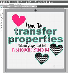 Transfer Properties Tool: Silhouette Studio V4 Tutorial