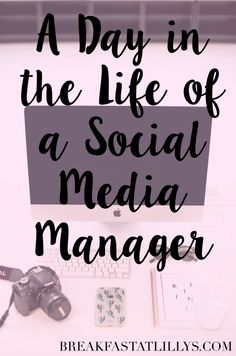 Ever wondered what a day in the life of a social media manager is like? Today on Breakfast at Lilly's I am dishing what it's like!