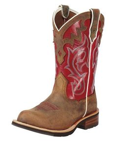 Red Ariat boots... I love them.. They are soooo comfy... and they look good!