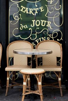 Paris Cafe Photography Tarte du Jour Cafe Chairs