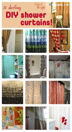 DIY Shower Curtains - 25 Awesome Ideas ~ Refresh Restyle