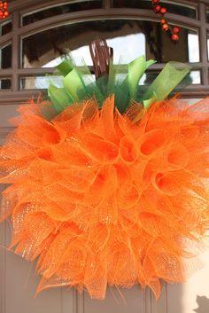 Watch Me Daddy: Mesh Pumpkin Wreath
