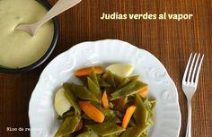 Bloc de recetas: Judías verdes al vapor en Olla GM F con falso alioli
