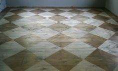 I want o do this to my foyer floor in black and white!