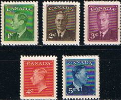 Canada 1950 King George VI Set Fine Mint SG 424 8 Scott 289 93 Other British Commonwealth Empire and Colonial stamps Here