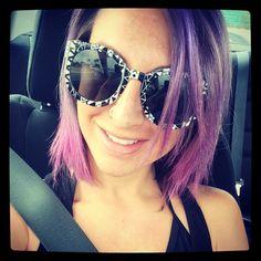 Hair by me #britpaige #purplehair #purpleombre #pinkombre #shorthair #bob