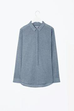 Shop /Women /Shirts /Sheer melange shirt SHEER MELANGE SHIRT £55 Description | Details | Shipping & Delivery | Size Guide Made from sh...