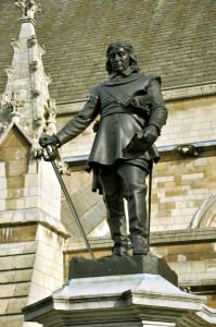Oliver Cromwell (25 April 1599 – 3 Sep 1658)  was an English military and political leader and later Lord Protector of the Commonwealth of England, Scotland and Ireland.  Cromwell is one of the most controversial figures in the history of the British Isles, considered a regicidal dictator by historians such as David Sharp, and a military dictator by Winston Churchill.  In a 2002 BBC poll in Britain, Cromwell was selected as one of the ten greatest Britons of all time.