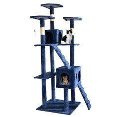 73' Cat Tree Scratcher Play House Condo Furniture Bed Post Pet House * Don't get left behind, see this great cat product : Cat Tree