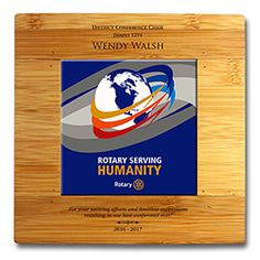 Russell-Hampton Co. Rotary Club Supplies: Customized 2016-17 Theme Tile Bamboo Trivet
